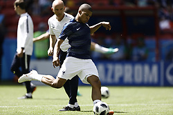 June 16, 2018 - Kazan, Kazan, Russia - Kylian Mbappe of France, during warm-up before the 2018 FIFA World Cup Russia group C match between France and Australia at Kazan Arena on June 16, 2018 in Kazan, Russia. (Credit Image: © Mehdi Taamallah/NurPhoto via ZUMA Press)