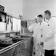 "Y-620907B-01. ""Emanuel. Interns folder. X ray, rehab, lab, heart, exterior rehab, display in lobby. September 7, 1962"