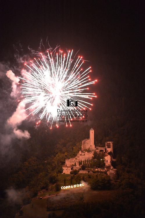 48° COPPA D'ORO GARA PER ALLIEVI,fuochi d'artificio, BORGO VALSUGANA 12 SETTEMBRE 2015 © foto Daniele Mosna