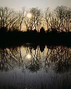 Morning sun over Little Marsh, Salt Plains National Wildlife Refuge, Oklahoma.