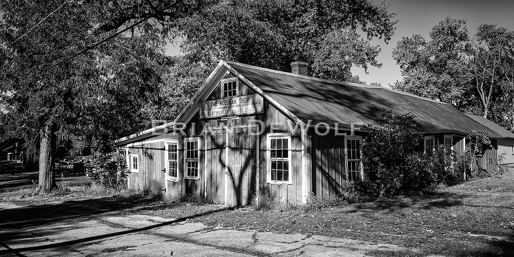 The Needham blacksmith shop is still smithing in Kaneville, Illinois and has been since 1871. Bart Needham was the owner when this image was taken.