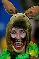 Photo: Glyn Thomas.<br />Croatia v Australia. Group F, FIFA World Cup 2006. 22/06/2006.<br /> An Australian fan cheers on his team.