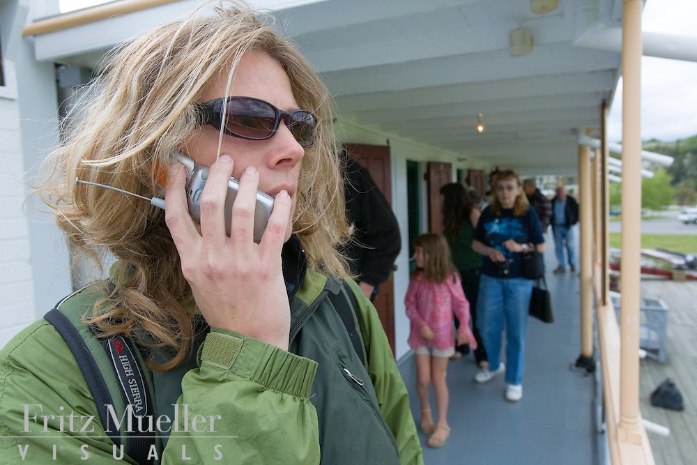 Woman on the phone in Whitehorse