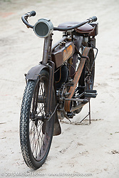 Norm Nelson's all original 1911 Redding Standard motorcycle at the annual AMCA Sunshine Chapter swap meet in New Smyrna Beach, FL during Daytona Bike Week. Saturday, March 7, 2015.  Photography ©2015 Michael Lichter.