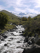Turkey, Pontic Mountains range, A stream flows down the mountain
