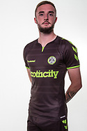 Forest Green Rovers Carl Winchester(7) wearing the new kit for the 2018/19 season during the 2018/19 official team photocall for Forest Green Rovers at the New Lawn, Forest Green, United Kingdom on 30 July 2018. Picture by Shane Healey.