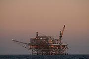 Oil Derrick, Catalina Channel, California, USA