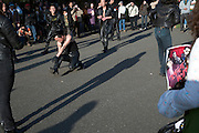 the Roller-zoku gang subculture, 1950s rocker style dressed up dancing in Yoyogi Park, Tokyo, Japan 2009