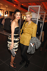 Left to right, actress NATASSIA SCARLET MALTHE and PIXIE GELDOF at a party to celebrate the opening of the new H&M store at 234 Regent Street, London on 13th February 2008.<br />