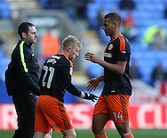 Mark Duffy of Sheffield Utd replaces Reece Brown of Sheffield Utd  during the FA Cup Second round match at the Macron Stadium, Bolton. Picture date: December 4th, 2016. Pic Simon Bellis/Sportimage