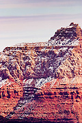 09 FEBRUARY 2004 --GRAND CANYON NATIONAL PARK, AZ: Snow dusts the rocks formations in the Grand Canyon National Park in northern Arizona.  PHOTO BY JACK KURTZ