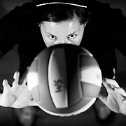 West Salem volleyball setter Meredith Coba on Monday, Aug. 24, 2010.