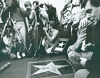 1987 Robert Wagner at Natalie Woods' posthumous Walk of Fame ceremony