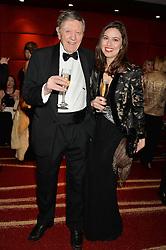 CHARLIE CLARKE and his grandaughter ALEXANDRA DUFF at the Soldiering On Awards held at the Park Plaza Hotel, Westminster Bridge, London on 5th April 2014.