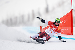 PYEONGCHANG-GUN, SOUTH KOREA - FEBRUARY 24: Rok Marguc of Slovenia competes during the Men's Parallel Giant Slalom Qualification Run on day fifteen of the PyeongChang 2018 Winter Olympic Games at Phoenix Snow Park on February 24, 2018 in Pyeongchang-gun, South Korea. Photo by Ronald Hoogendoorn / Sportida