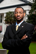 TALLAHASSEE, FLA.1/20/10-HUGHBROWN CH14-Hugh Brown is in Nova Southeastern's Master of Business Administration in Finance program while completing his work in the Florida Gubernatorial Fellows Class V at the Capitol in Tallahassee...COLIN HACKLEY PHOTO