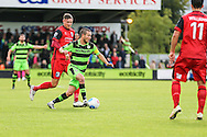 Forest Green Rovers Liam Noble(15) runs forward during the Vanarama National League match between Forest Green Rovers and Barrow at the New Lawn, Forest Green, United Kingdom on 1 October 2016. Photo by Shane Healey.