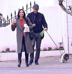 EXCLUSIVE: Frank Lampard and wife Christine Bleakley are seen walking their dog, Frank is seen picking up dog poo and getting it on his hands as Christine laughs at her husbands miss fortune. 08 Nov 2018 Pictured: Frank Lampard, Christine Bleakley. Photo credit: Warner/Butler /MEGA TheMegaAgency.com +1 888 505 6342