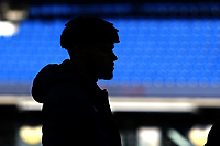 Football - 2019 / 2020 Premier League - Brighton & Hove Albion vs. Aston Villa<br /> <br /> A silhouetted Tyrone Mings of Aston Villa before kick off at The Amex Stadium Brighton <br /> <br /> COLORSPORT/SHAUN BOGGUST