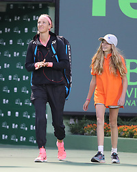 March 22, 2018 - Key Biscayne, Florida, United States Of America - KEY BISCAYNE, FL - MARCH 22: Victoria Azarenka during Day 4 of the Miami Open at the Crandon Park Tennis Center on March 22, 2018 in Key Biscayne, Florida...People:  Victoria Azarenka. (Credit Image: © SMG via ZUMA Wire)