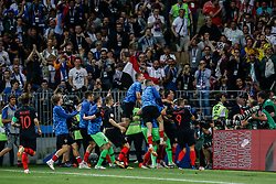 July 11, 2018 - Moscow, Vazio, Russia - Mario MANDZUKIC of Croatia score goal during match between England and Croatia valid for semi final World Cup 2018 held at Lujniki Stadium in Moscow in Russia. Croatia wins 2-1. (Credit Image: © Thiago Bernardes/Pacific Press via ZUMA Wire)