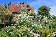 The White Garden, Sissinghurst castle gardens, Kent, England, UK