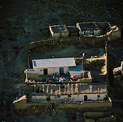 Houses built on hillside, Potosi department, Bolivia