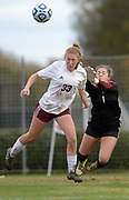 Collierville freshman Abby Johnson and junior Emily Samisch protect the goal but Houston wins 1-0 in the Class AAA state soccer championship Saturday at Richard Siegel Soccer Complex in Murfreesboro, Tenn.