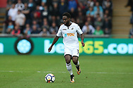 Nathan Dyer of Swansea city in action . Premier league match, Swansea city v Huddersfield Town at the Liberty Stadium in Swansea, South Wales on Saturday 14th October 2017.<br /> pic by  Andrew Orchard, Andrew Orchard sports photography.