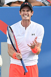 August 1, 2018 - Washington, D.C, U.S - ANDY MURRAY reacts after a bad shot during his 2nd round match at the Citi Open at the Rock Creek Park Tennis Center in Washington, D.C. (Credit Image: © Kyle Gustafson via ZUMA Wire)