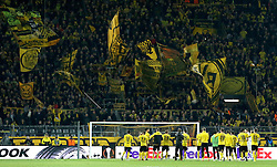 The Borussia Dortmund players show the appreciation of their fans support - Mandatory by-line: Robbie Stephenson/JMP - 07/04/2016 - FOOTBALL - Signal Iduna Park - Dortmund,  - Borussia Dortmund v Liverpool - UEFA Europa League Quarter Finals First Leg