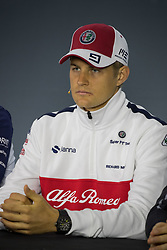 November 8, 2018 - Sao Paulo, Sao Paulo, Brazil - MARCUS ERICSSON (SWE), of Sauber F1 Team during the FIA press conference for the Formula One Grand Prix of Brazil 2018 at Interlagos circuit, in Sao Paulo, Brazil. The grand prix will be celebrated next Sunday, November 11. (Credit Image: © Paulo Lopes/ZUMA Wire)