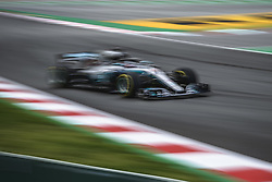 May 13, 2018 - Barcelona, Catalonia, Spain - LEWIS HAMILTON (GBR) drives during the Spanish GP at Circuit de Barcelona - Catalunya in his Mercedes W09 EQ Power  (Credit Image: © Matthias Oesterle via ZUMA Wire)
