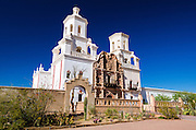 Mission San Xavier del Bac, Tohono O'odham Indian Reservation, Tucson, Arizona USA