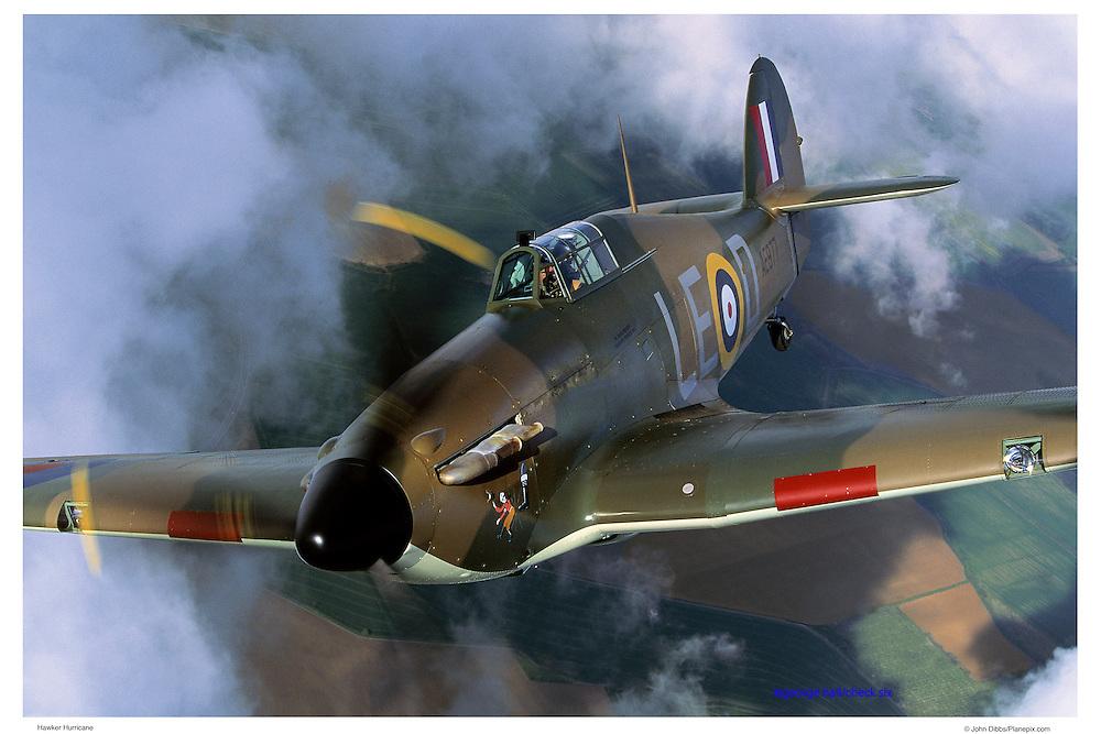 Hawker Hurricane, aerial close up