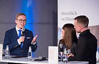 """DEU, Deutschland, Germany, Berlin, 12.02.2020: Bundestag, Philipp Amthor (MdB, CDU) bei der Buchvorstellung """"Eine Politik für morgen – Die junge Generation fordert ihr politisches Recht""""."""