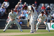 Northants Steelbacks Niel Buck bowled  during the Specsavers County Champ Div 2 match between Lancashire County Cricket Club and Northamptonshire County Cricket Club at the Emirates, Old Trafford, Manchester, United Kingdom on 14 May 2019.