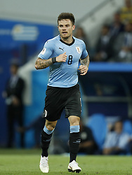 Nahitan Nandez of Uruguay during the 2018 FIFA World Cup Russia round of 16 match between Uruguay and at the Fisht Stadium on June 30, 2018 in Sochi, Russia