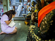 29 MAY 2018 - BANGKOK, THAILAND: during Vesak observances at Wat Hua Lamphong in Bangkok. Vesak is the Buddha's birthday, and one of the most important holy days in the Theravada Buddhist religion.        PHOTO BY JACK KURTZ