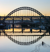 Paddler on the Tyne, New Year's Eve 2020