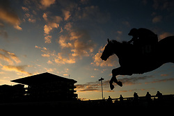 Bobble Emerald ridden by Harry Stock in the Experience The Theatre at the Festival Conditional Jockeys' Handicap Hurdle race during day one of the Showcase at Cheltenham Racecourse
