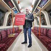 FREE PICTURES :   Celebrated crime author Chris Brookmyre dashed around the Glasgow Subway and hosted readings of his latest book, Want You Gone (Little, Brown) to officially launch the return of the 2017 Byres Road Book Festival which will return to Glasgow on 22nd to 25th September 2017<br /> <br /> <br /> Picture Robert Perry 26th June 2017. <br /> <br /> <br /> <br /> <br /> Please credit photo to Robert Perry<br /> <br /> Image is free to use in connection with the promotion of the above company or organisation. 'Permissions for ALL other uses need to be sought and payment make be required.<br /> <br /> <br /> Note to Editors:  This image is free to be used editorially in the promotion of the above company or organisation.  Without prejudice ALL other licences without prior consent will be deemed a breach of copyright under the 1988. Copyright Design and Patents Act  and will be subject to payment or legal action, where appropriate.<br /> www.robertperry.co.uk<br /> NB -This image is not to be distributed without the prior consent of the copyright holder.<br /> in using this image you agree to abide by terms and conditions as stated in this caption.<br /> All monies payable to Robert Perry<br /> <br /> (PLEASE DO NOT REMOVE THIS CAPTION)<br /> This image is intended for Editorial use (e.g. news). Any commercial or promotional use requires additional clearance. <br /> Copyright 2016 All rights protected.<br /> first use only<br /> contact details<br /> Robert Perry     <br /> 07702 631 477<br /> robertperryphotos@gmail.com<br />        <br /> Robert Perry reserves the right to pursue unauthorised use of this image . If you violate my intellectual property you may be liable for  damages, loss of income, and profits you derive from the use of this image.
