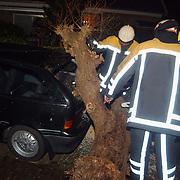 Stormschade, boom op auto, Boerensteeg Huizen