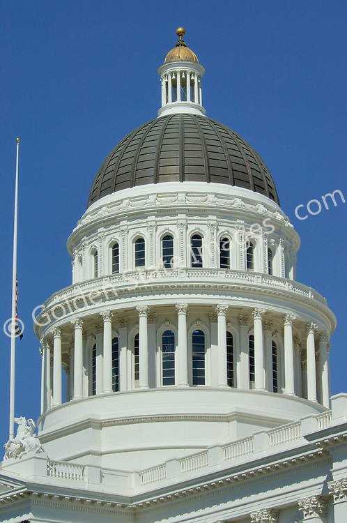 The State Capital of California, Sacramento is the oldest incorporated city in California  (February 27, 1850), and in 1854 the California legislature relocated to Sacramento from Monterey. <br /> <br /> Designed by architects M.F. Butler and Reuben Clark in the Roman Corinthian Style. Construction was completed in 1874.