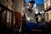 portrait of cuban elderly man