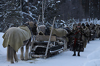 roros market  since 1854 , exhibitors and vendors come from a long way off, travelling by horse and sleigh. minus 35°c dovrefjell national park , norway, february,.