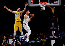 December 29, 2017 - Los Angeles, California, U.S. - LA Clippers forward Blake Griffin (32) drives to the basket past Los Angeles Lakers forward Larry Nance Jr. (7) in the second half of a NBA Basketball game at Staples Center on Friday, Dec. 29, 2017 in Los Angeles.LA Clippers won 121-106. (Credit Image: © Keith Birmingham/SCNG via ZUMA Wire)