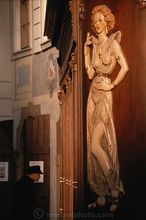 Decorated Bar restaurant in Prague, Czech Republic.