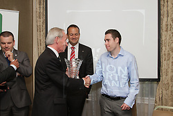 """Jason Smyth and Minister Leo Varadkar launch Vision Sports Ireland. <br /> Thursday, 19 September, Dublin.<br /> Four time Paralympic gold medallist and World Champion, Jason Smyth, and Minister for Transport, Tourism & Sport, Leo Varadkar, today launched Vision Sports Ireland at a reception in central Dublin. Formerly Irish Blind Sports, the organisation has been renamed and rebranded to mark its 25th anniversary and to reflect the needs of its members. <br /><br /><br />Speaking at the opening Minister Varadkar said: """"This is the start of a new era for vision impaired sports people in Ireland and I congratulate Vision Sports Ireland for reaching out to the community. Sport can, and should, be open to everyone, and I know that this organisation is striving to provide access to activities right across the country. The Government continues to support this area and awarded €36,000 to Vision Sports Ireland through the Sports Council this year, in addition to support for elite athletes through Paralympics Ireland.""""<br />Vision Sports Ireland assists vision impaired people in Ireland, of all ages, to access sports at all levels, from leisure to elite, in their own communities where possible. The Organisation offers a range of sports, including tandem cycling, football, swimming, golf and athletics and hosts, both,  national and international competitions. <br />Senator Eamonn Coghlan, a valued supporter of Vision Sports Ireland, former three time Olympian and World athletics 5000m champion,  presided over the event declaring in his opening that """"today is a great day for the vision impaired people of Ireland.""""<br />Jason Smyth, a long-time Vision Sports Ireland member, had broken from his training in the States to demonstrate his support for the Organisation and """"to reach out to more of the vision impaired community of Ireland."""" Jason outlined his next goals as """"making the Olympics in Rio and retaining the Paralympic titles at 100 meters."""" He modestly describes himself as"""