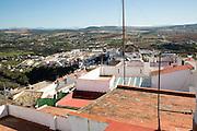 Rooftops in village of Arcos de la Frontera, Spain
